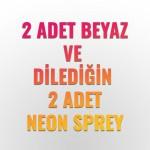 2 NEON Plasti Dip® + 2 BEYAZ RENK Plasti Dip® Sprey Kampanyası